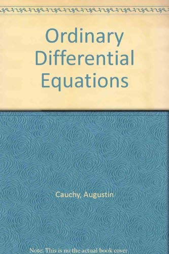 Equations Differentielles Ordinaires: Cours inedit, fragment (Ordinary Differential Equations: ...