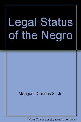 9780384351509: Legal Status of the Negro