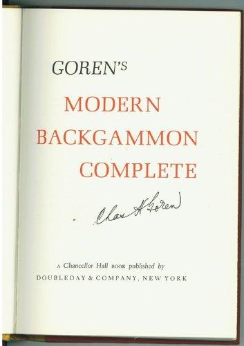 Goren's Modern Backgammon Complete: Goren, , Charles