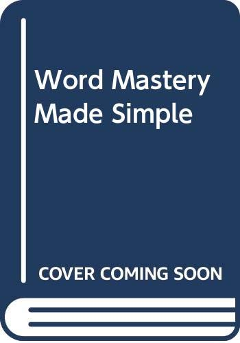 9780385012133: Word Mastery Made Simple