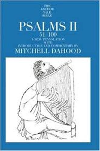 9780385037594: Psalms II, 51-100: Anchor Bible (Anchor Bible, Vol 17)