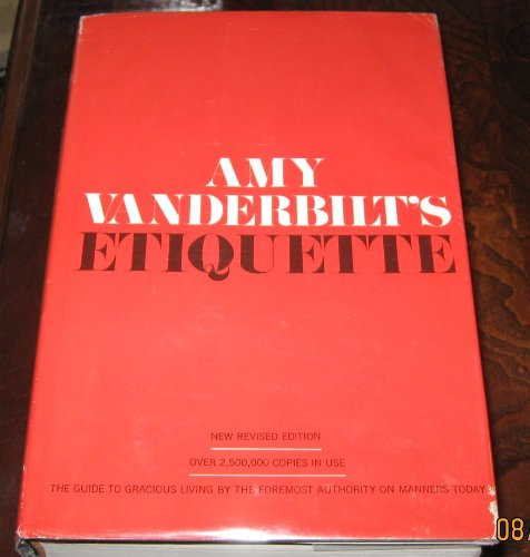 Amy Vanderbilts's Etiquette (0385039158) by Vanderbilt, Amy