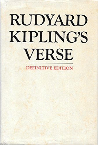 Rudyard 0340011572 The Definitive Edition of Rudyard Kipling/'s Verse by Kipling