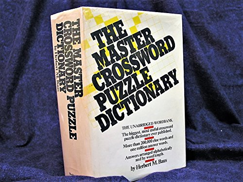9780385047852: The master crossword puzzle dictionary: The unabridged word bank