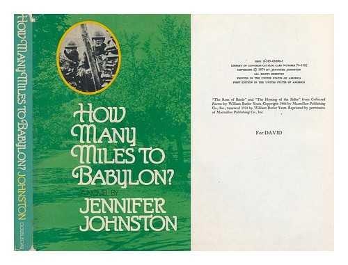 9780385056908: How Many Miles to Babylon?: A Novel