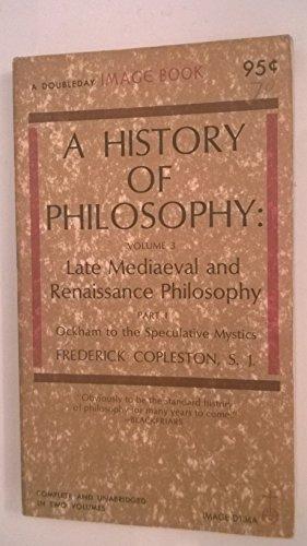 9780385065320: History of Philosophy, Volume 3, Part 2