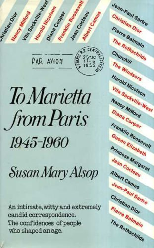 9780385097741: To Marietta from Paris, 1945-1960