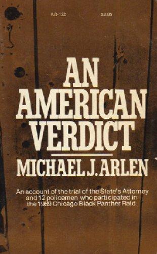 An American Verdict: Arlen, Michael J.