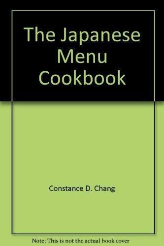 9780385110556: The Japanese menu cookbook