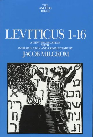 9780385114349: Leviticus 1-16: A New Translation with Introduction and Commentary (Anchor Bible, Vol. 3)