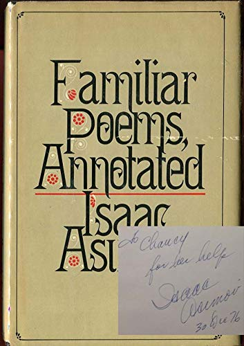 9780385116862: Familiar Poems, Annotated