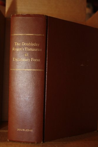 The Doubleday Roget's Thesaurus in Dictionary Form: Landau, Sidney I. (ed.)