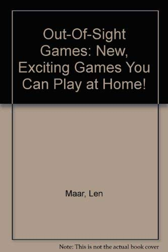9780385143981: Out-Of-Sight Games: New, Exciting Games You Can Play at Home!