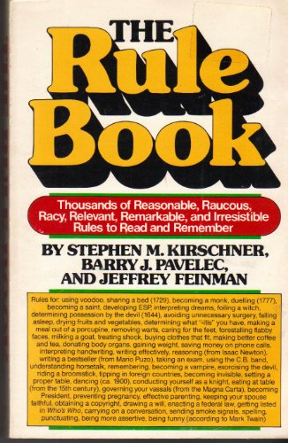 The Rule book (A Dolphin book): Kirschner, Stephen M.;