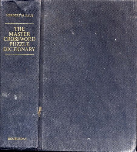 9780385151184: The Master Crossword Puzzle Dictionary