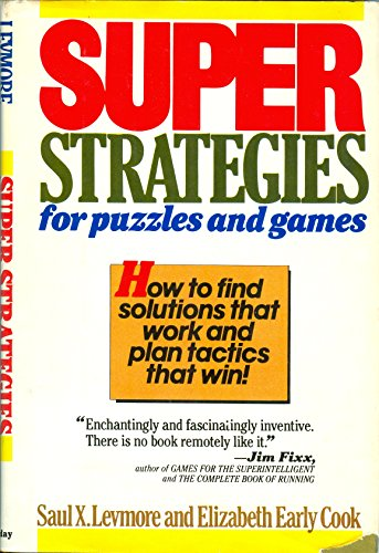 9780385171656: Super strategies for puzzles and games