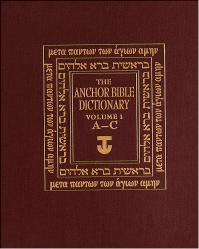9780385193511: Anchor Bible Dictionary: (A-C) v. 1