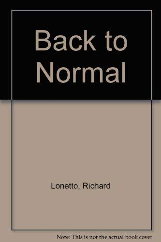 9780385194105: Back to Normal
