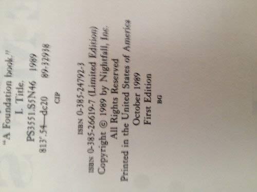 9780385266192: Nemesis Limited Ed.