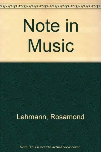 9780385279581: Note in Music (A Virago modern classic)
