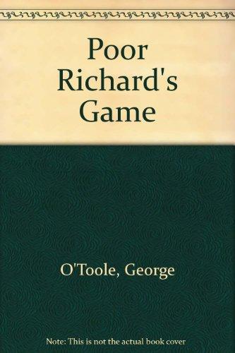 9780385287968: Poor Richard's Game