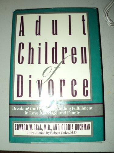 9780385299244: Adult Children of Divorce