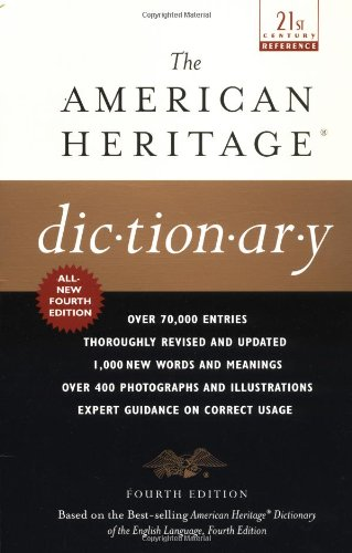9780385335768: The American Heritage Dictionary: Fourth Edition (21st Century Reference)