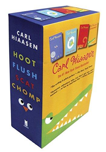 9780385371940: Hiaasen 4-Book Trade Paperback Box Set (Chomp, Flush, Hoot, Scat)