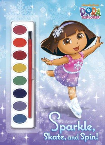 Sparkle, Skate, and Spin! (Dora the Explorer) (Paint Box Book): Golden Books