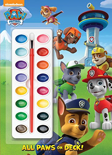9780385384469: All Paws on Deck! [With Paint Brush and Paint] (Paw Patrol)