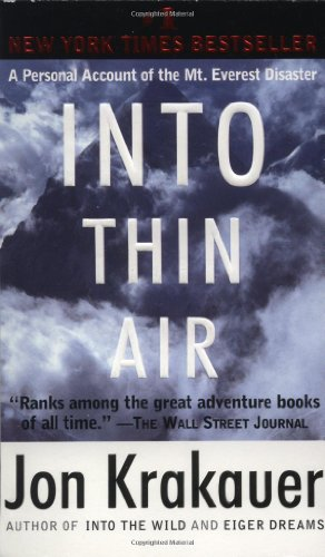 9780385492089: Into Thin Air: A Personal Account of the Mt. Everest Disaster