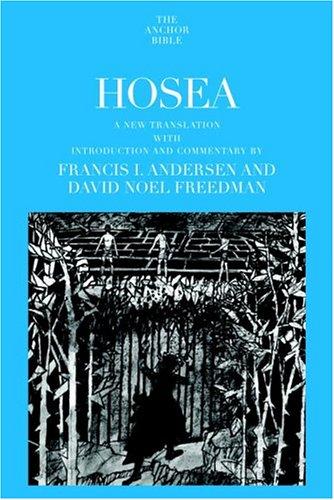 9780385513784: Hosea (Anchor Bible)