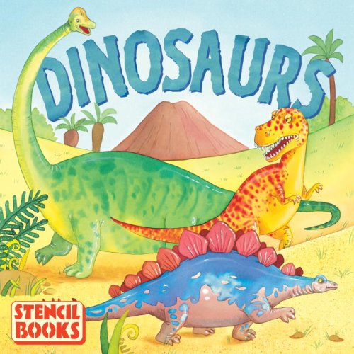 Dinosaurs: A Stencil Book (Board Book): Various