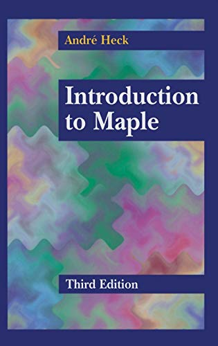 9780387002309: Introduction to Maple