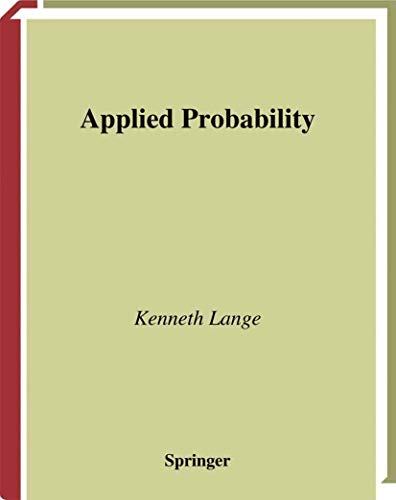 9780387004259: Applied Probability (Springer Texts in Statistics)