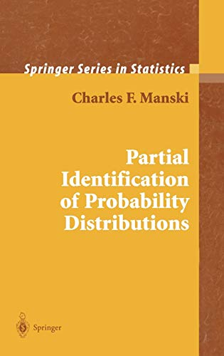 9780387004549: Partial Identification of Probability Distributions (Springer Series in Statistics)