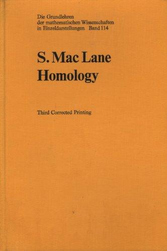 9780387038230: Homology (Grundlehren Der Mathematischen Wissenschaften)