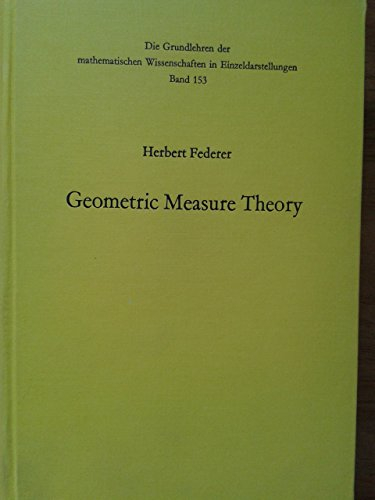 9780387045054: Geometric Measure Theory