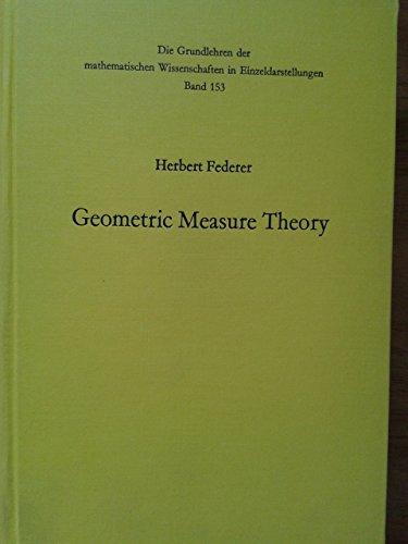 Geometric Measure Theory: Federer, Herbert