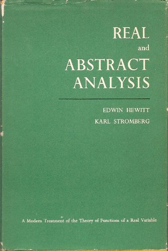 9780387045597: Real and Abstract Analysis: A Modern Treatment of the Theory of Functions of a Real Variable