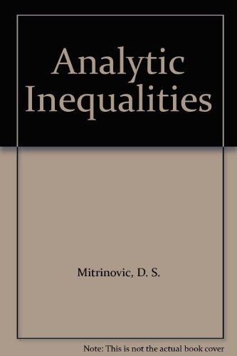 9780387048376: Analytic Inequalities
