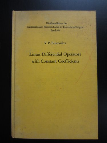 9780387048383: Linear Differential Operators with Constant Coefficients