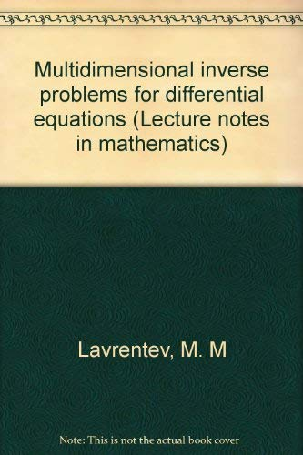 9780387052823: Title: Multidimensional inverse problems for differential