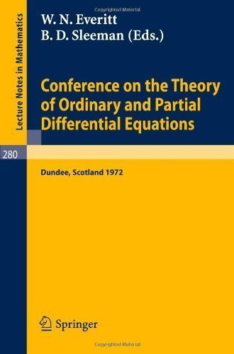 Conference on the Theory of Ordinary and Partial Differential Equations, held in Dundee/Scotland,...