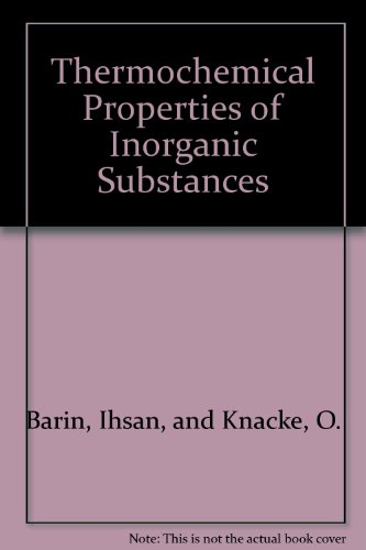 9780387060538: Thermochemical properties of inorganic substances