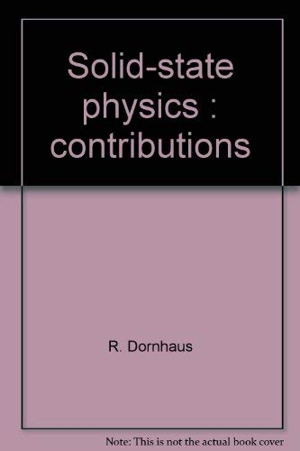 9780387077741: Solid-state physics: (Springer tracts in modern physics 78)