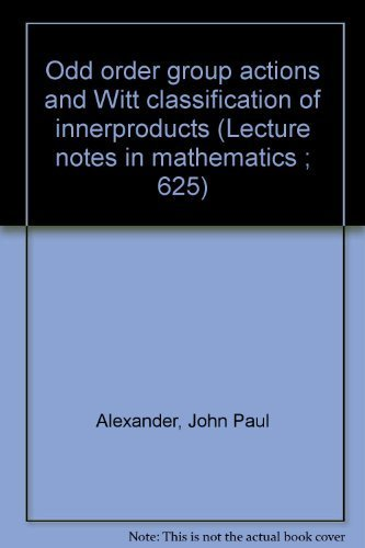Odd order group actions and Witt classification: Alexander, John Paul