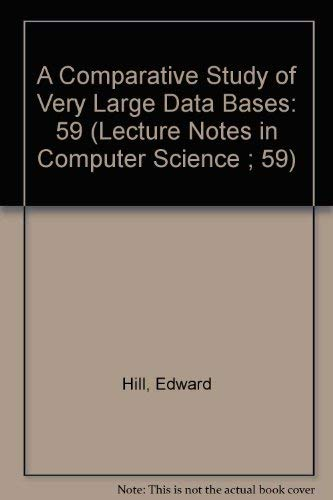A Comparative Study of Very Large Data Bases