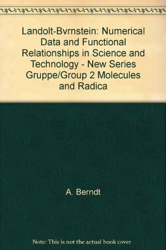Landolt-Bvrnstein: Numerical Data and Functional Relationships in: A. Berndt