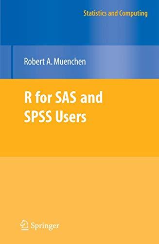 9780387094175: R for SAS and SPSS Users (Statistics and Computing)